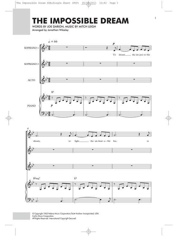 Impossible Year Piano Sheet Music Antaexpocoaching