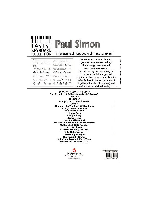 Easiest Keyboard Collection Paul Simon Keyboard Sheet Music