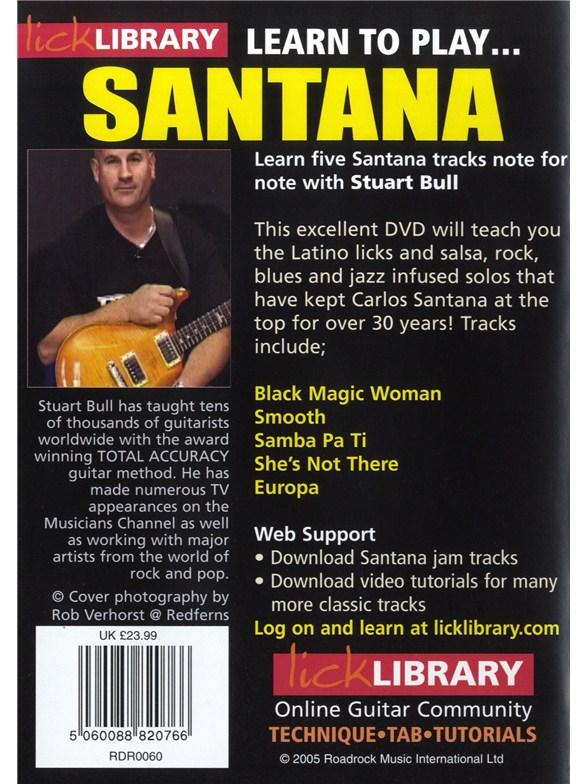 Santana instructional dvd lick library pic 356