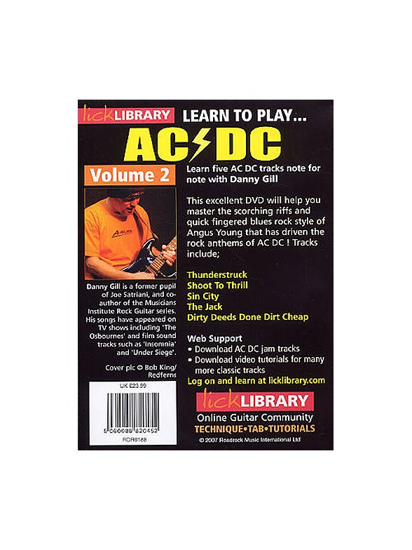 Learn to play acdc lick library how