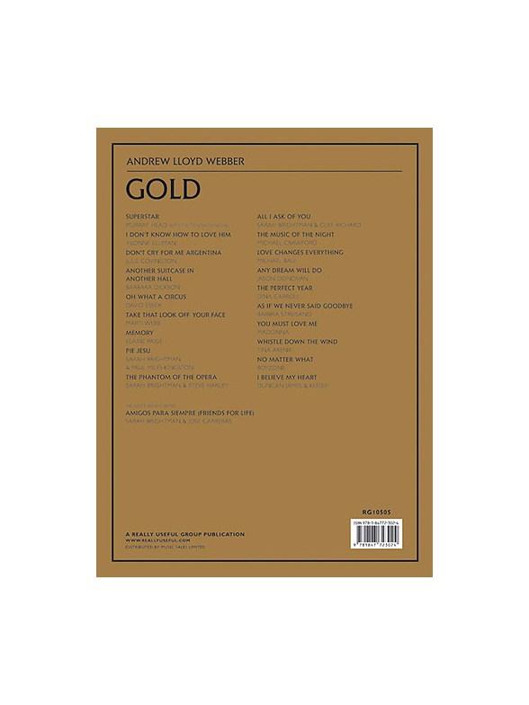 Andrew Lloyd Webber Gold Piano Vocal Amp Guitar Sheet