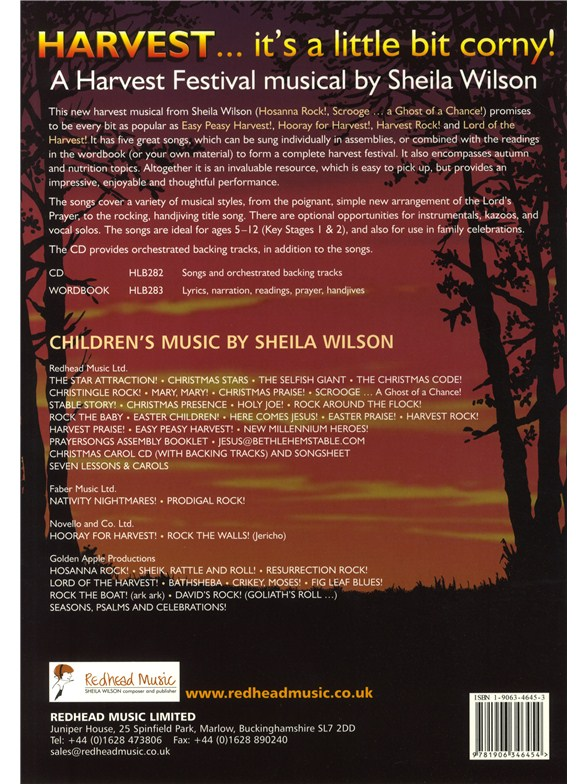 Music Book  C B Sheila Wilson Harvest Its A Little Bit Corny