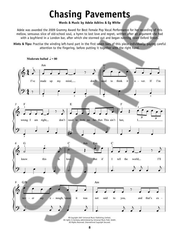 Really Easy Piano Adele Piano Sheet Music Sheet Music