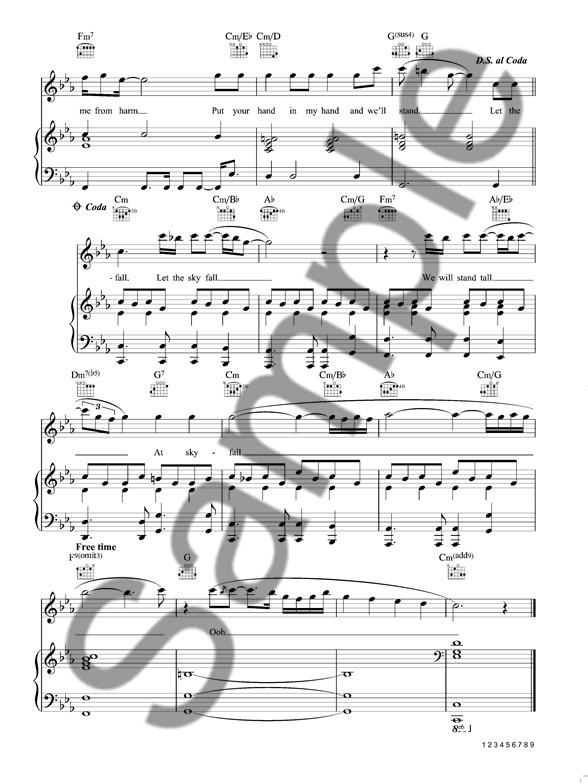 Adele: Skyfall - James Bond Theme (With Backing CD) - Piano, Vocal ...