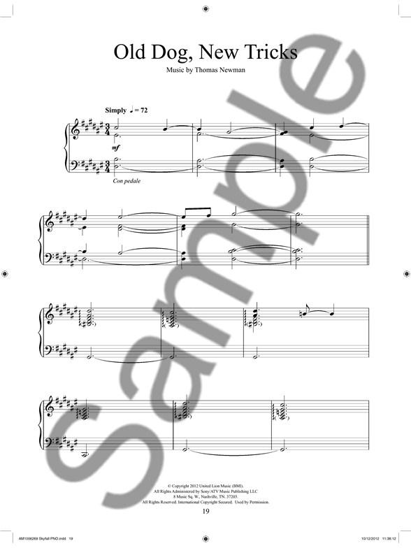 Skyfall: Soundtrack Selections - Piano Sheet Music - Sheet Music ...
