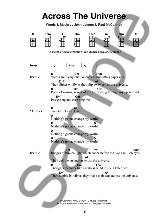 The Little Black Songbook Hit Songs For Ukulele Ukulele Sheet