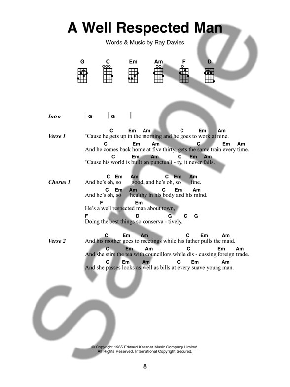 Well Respected Man Chords Images Chord Guitar Finger Position