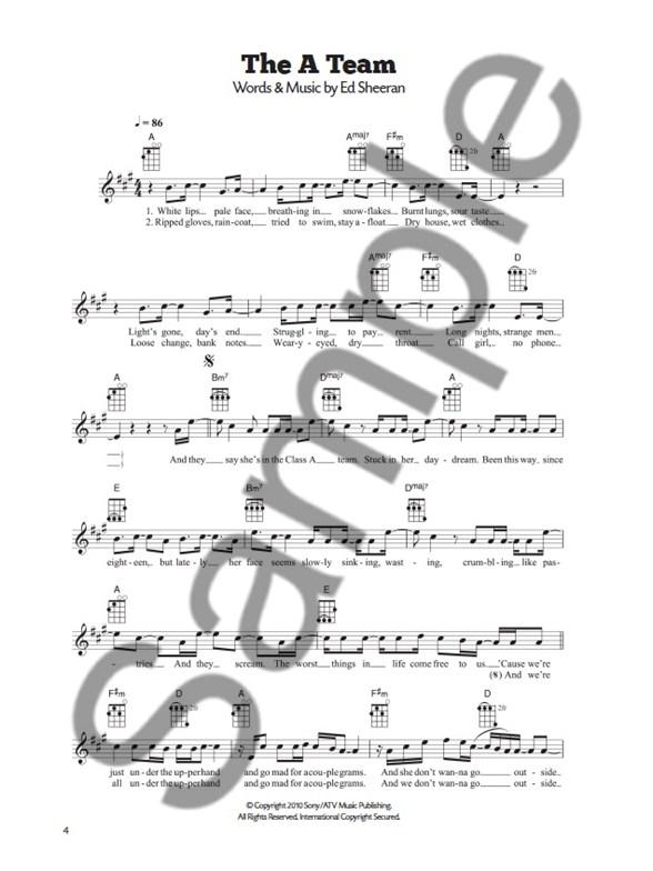 101 Hits For Ukulele The Red Book Ukulele Sheet Music Sheet