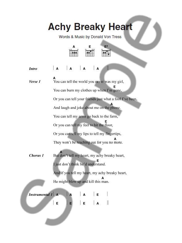 The Little Black Songbook: 3 Chord Songs - Lyrics & Chords Sheet ...