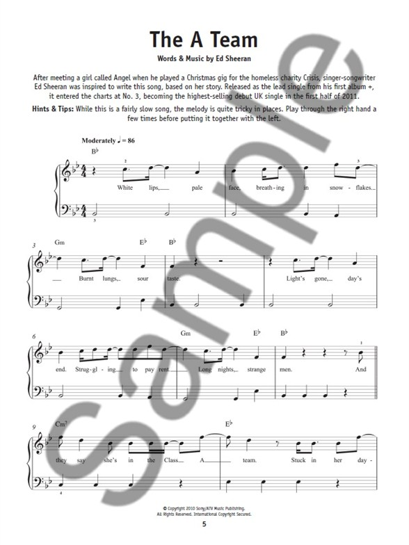 Really Easy Piano Ed Sheeran Piano Sheet Music Sheet Music