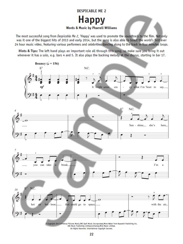 Préférence Really Easy Piano: Songs From The Movies - Easy Piano Sheet Music  BM36