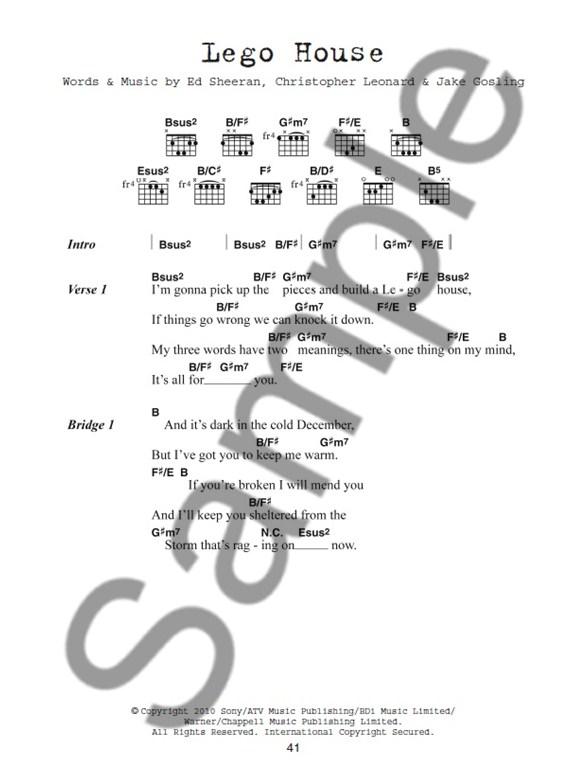 Ed Sheeran: Guitar Chord Songbook - Sheet Music & Songbooks ...