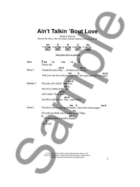 The Great Rock Chord Songbook 2 Lyrics Chords Sheet Music