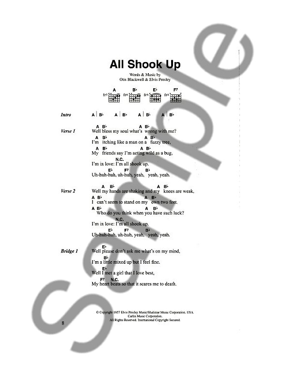 The Big Guitar Chord Songbook: 50s - Lyrics & Chords Sheet Music ...