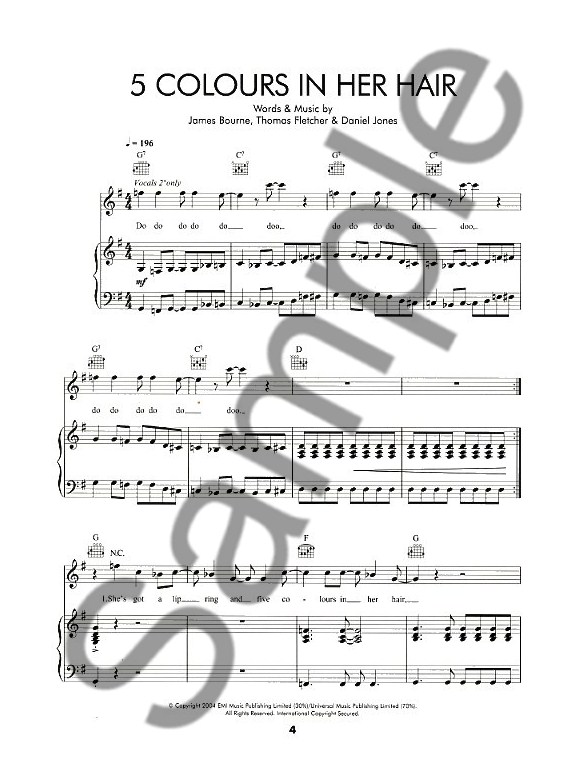 McFly: Room On The Third Floor - Piano, Vocal & Guitar Sheet Music ...