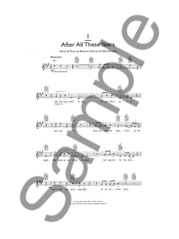 101 Irish Songs For Buskers - Melody Line, Lyrics & Chords Sheet ...