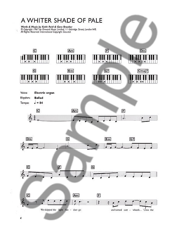Easiest Keyboard Collection Pop Classics Melody Line Lyrics