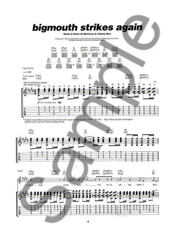 play guitar with the smiths guitar audio video sheet music songbooks. Black Bedroom Furniture Sets. Home Design Ideas