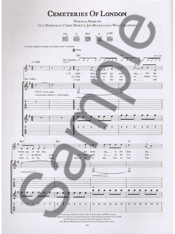Coldplay Viva La Vida Or Death And All His Friends Tab Guitar