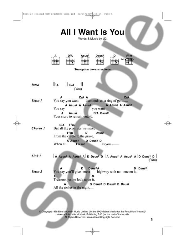 The Best Of Ireland Chord Songbook Lyrics Chords Sheet Music