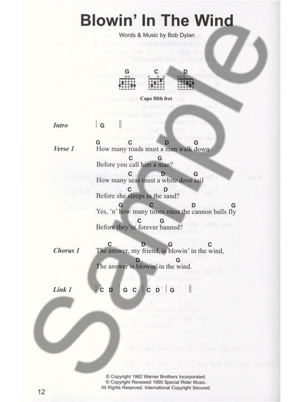 The Best Of Bob Dylan Chord Songbook Lyrics Chords Sheet Music