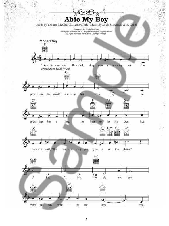 The Gig Book: Pub Songs - Melody Line, Lyrics & Chords Sheet Music ...