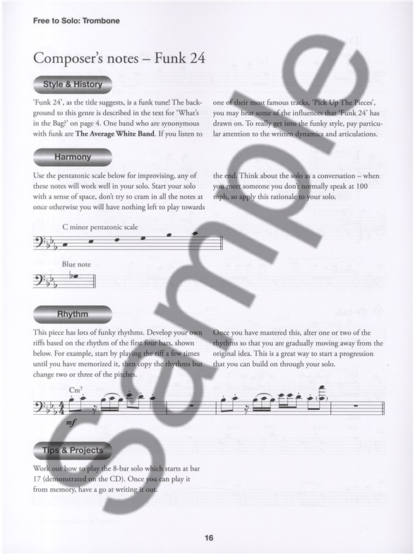 how to play a scale on trombone
