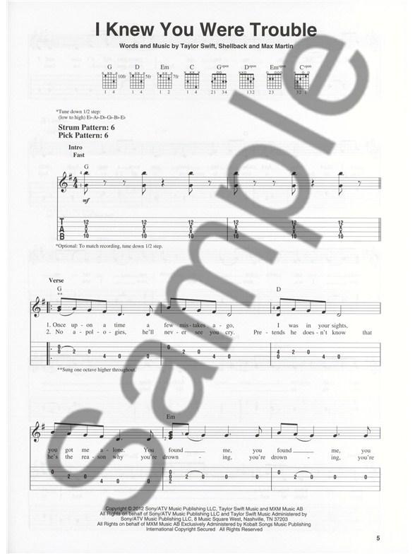 Taylor Swift: Red (Easy Guitar) - Guitar Sheet Music - Sheet Music ...