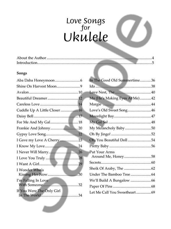Love Songs For Ukulele Ukulele Sheet Music Sheet Music
