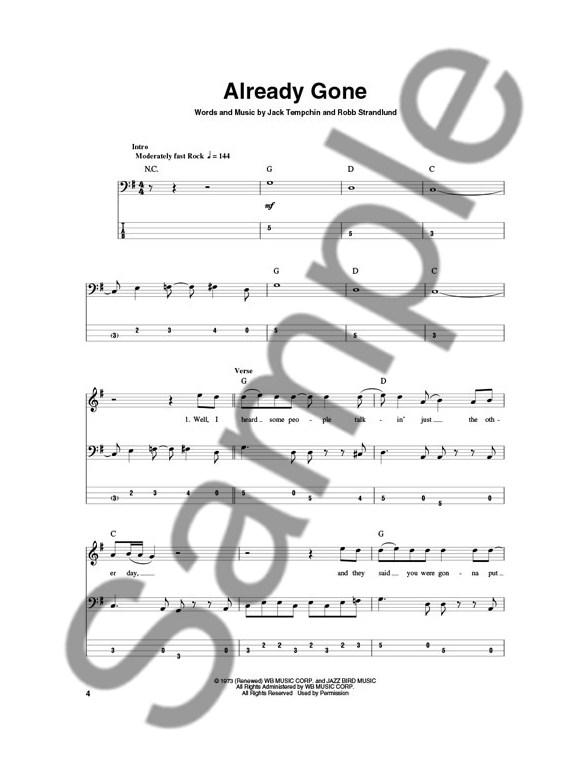 bass play-along volume 49  eagles  book  cd  - bass guitar sheet music