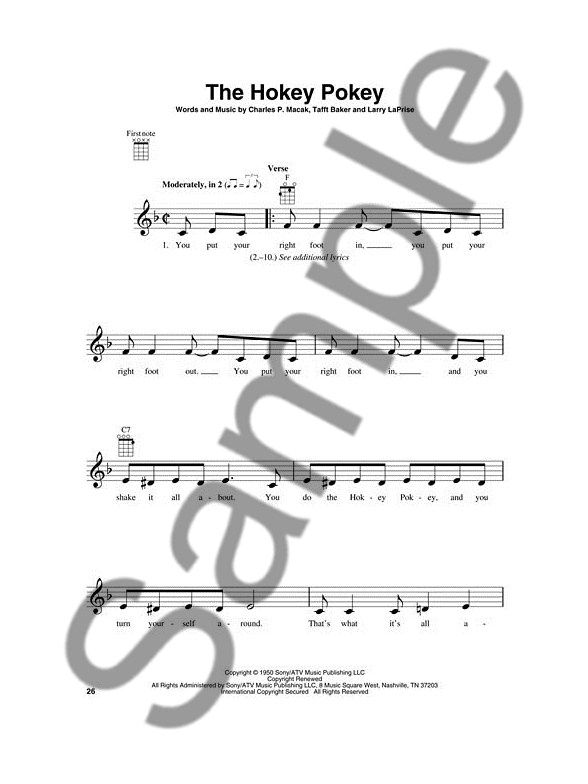Kids Songs For Ukulele Ukulele Sheet Music Sheet Music