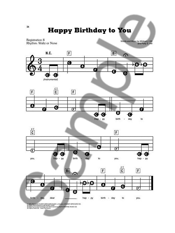 How To Play Happy Birthday Song On Piano Yamaha