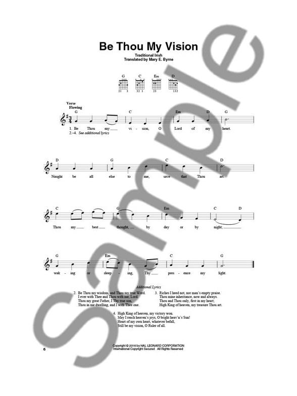 4-Chord Hymns For Guitar - Melody Line, Lyrics & Chords Sheet Music ...