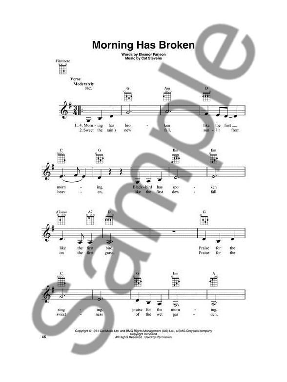 morning has broken cat stevens sheet music pdf