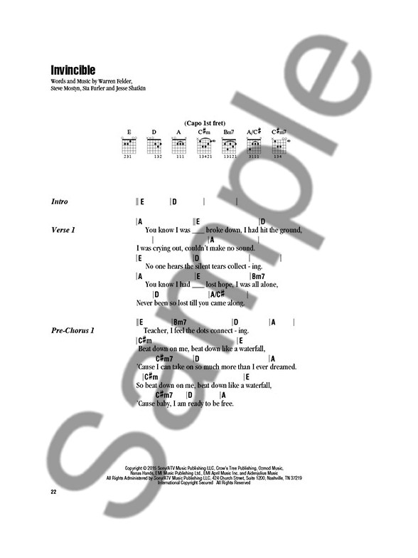Kelly Clarkson Strum Sing Lyrics Chords Sheet Music Sheet