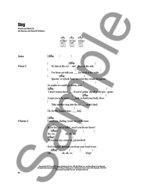 Ed Sheeran: Strum & Sing - Lyrics & Chords Sheet Music - Sheet Music ...