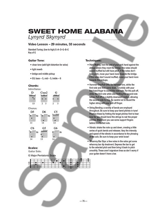 Attractive Sweet Home Alabama Guitar Chords Photo - Basic Guitar ...