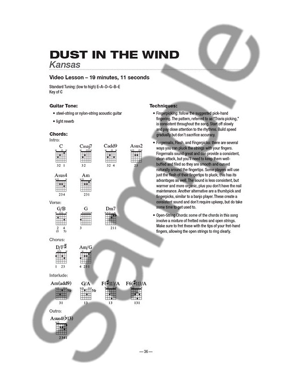 Teach Yourself To Play Guitar Songs: Dust In The Wind And 9 More ...