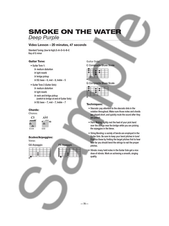 Teach Yourself To Play Guitar Songs: Smoke On The Water And 9 More ...