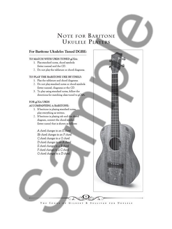 The Songs Of Gilbert & Sullivan For Ukulele (Book/Online Audio ...