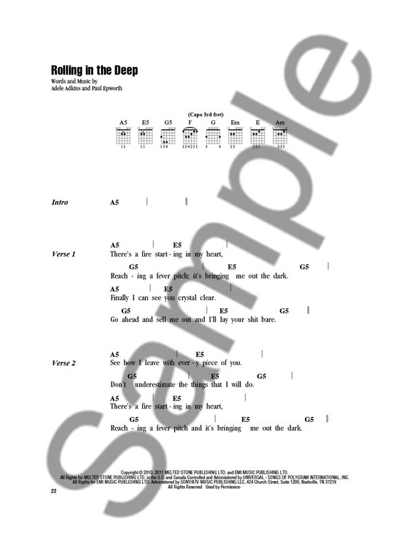 Adele: Strum & Sing - Lyrics & Chords Sheet Music - Sheet Music ...