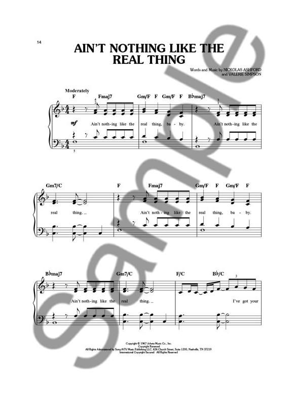Motown: Easy Piano Collection - Piano, Vocal & Guitar Sheet Music ...