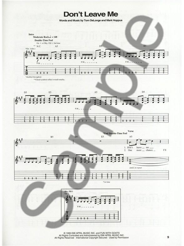 Blink 182 Enema Of The State Guitar Tab Sheet Music Sheet Music