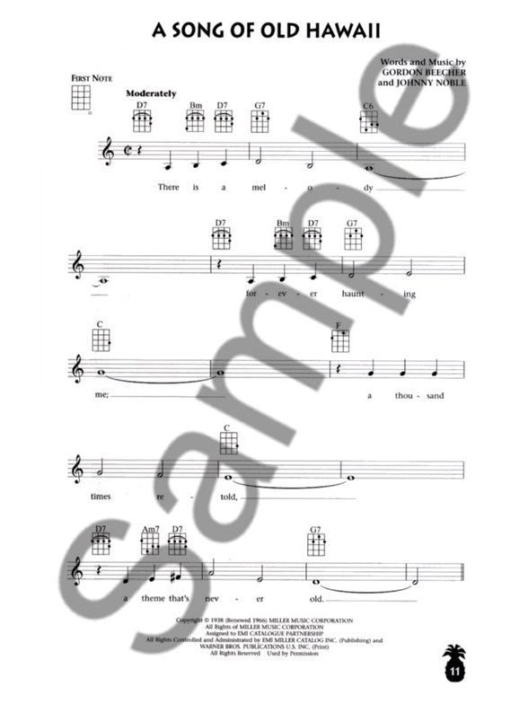 Jumpin Jims Gone Hawaiian Ukulele Sheet Music Sheet Music