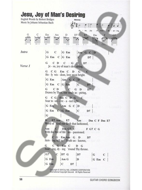 Guitar Chord Songbook: Wedding Songs - Lyrics & Chords Sheet Music ...