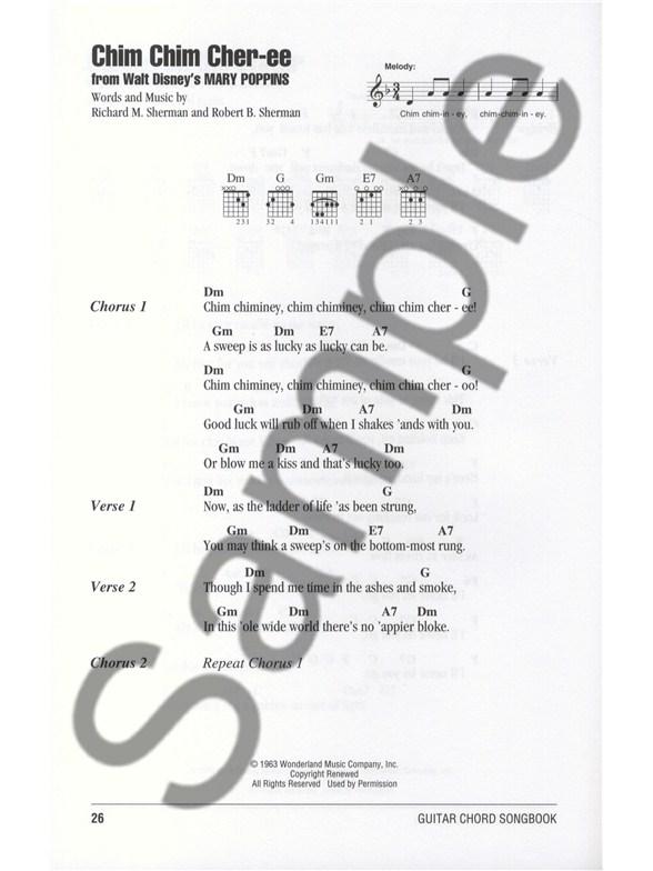 Guitar Chord Songbook: Disney - Lyrics & Chords Sheet Music - Sheet ...
