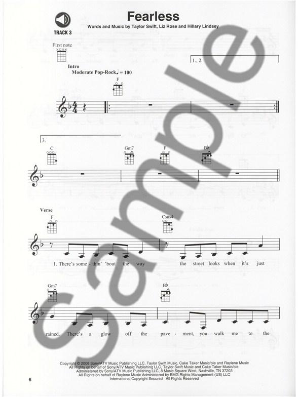 Ukulele Play Along Volume 23 Taylor Swift Ukulele Sheet Music