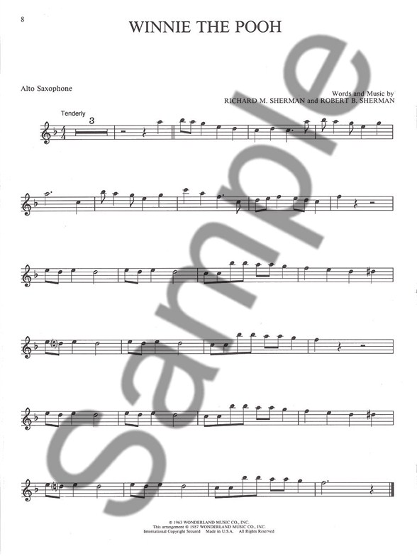 Easy Disney Favorites Alto Saxophone Book Online Audio