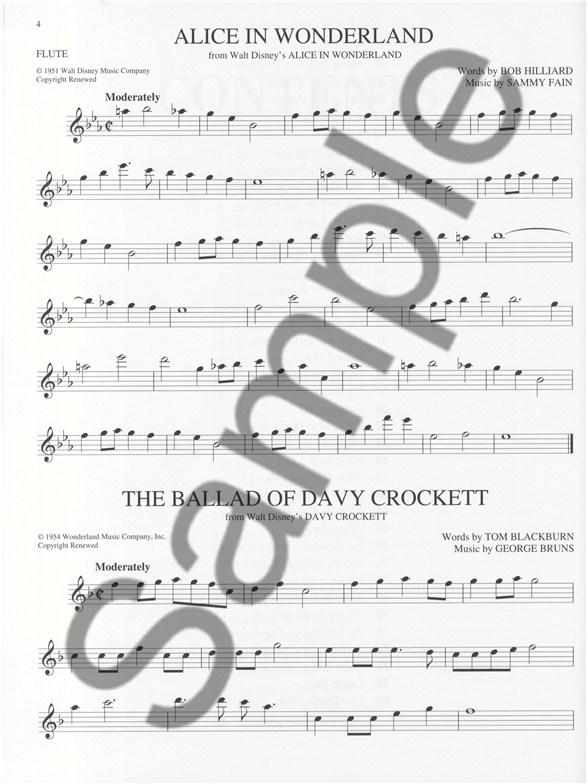 disney sheet music pdf flute