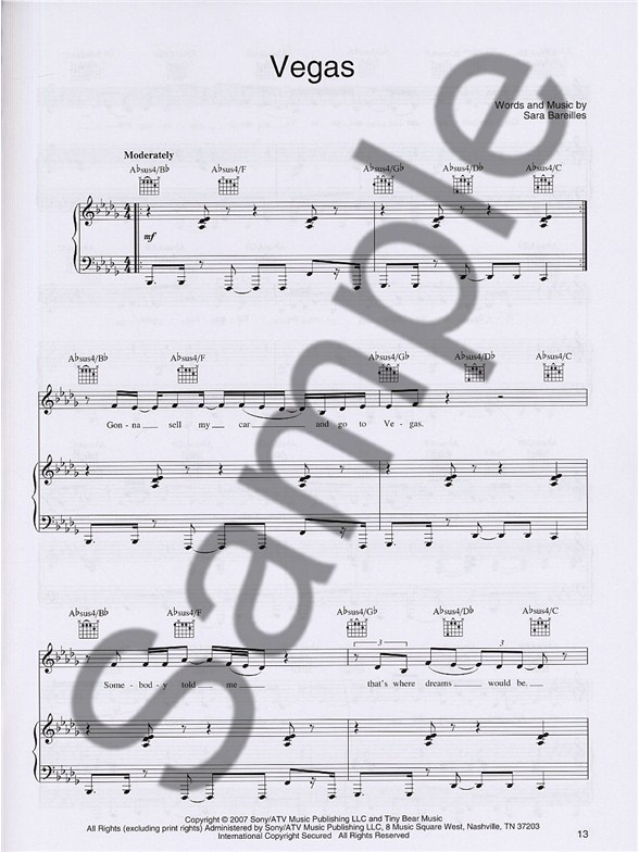 Sara Bareilles Little Voice Piano Vocal Guitar Sheet Music